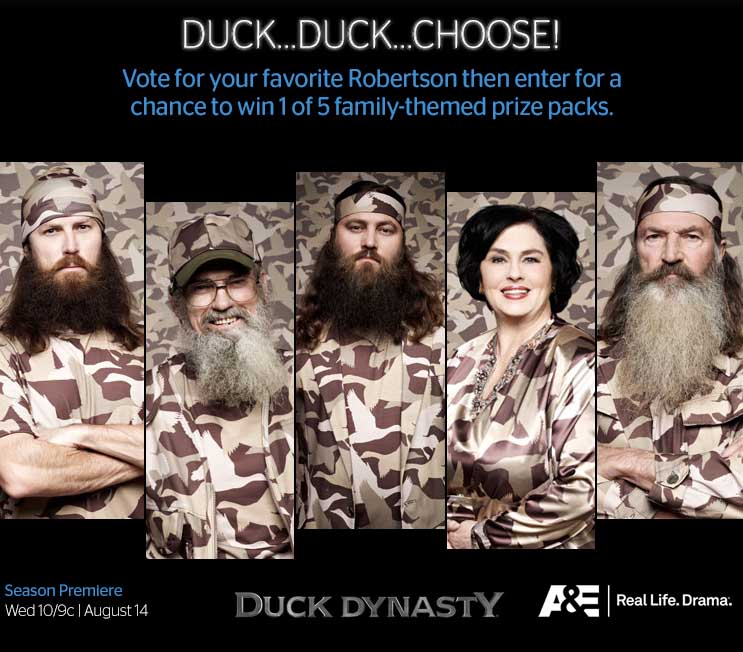 Duck Dynasty Sweepstakes Prize Pack 2013