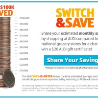 Win 250 cash in ALDI gift cards Switch and Save Sweepstakes 2013