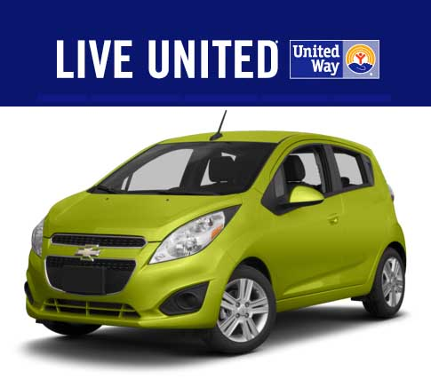 Win a 2013 Chevy Spark United Way Car Giveaway 2014