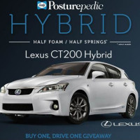 Win a Car Lexus CT200 Hybrid Buy one Drive one Giveaway 2013