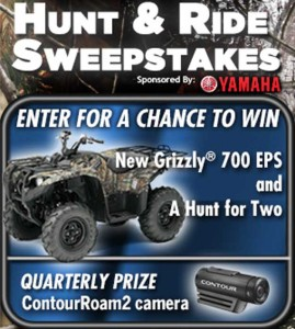 Win an ATV Hunt and Ride Sweepstakes 2013