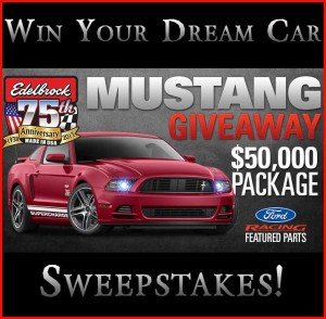 Edelbrock Mustang Giveaway Racing Package Sweepstakes