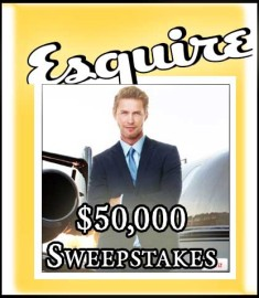 Esquire 50000 Cash Sweepstakes Jet Away
