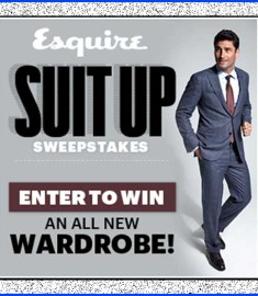 Esquire Suit Up Sweepstakes New 10000 Wardrobe