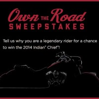 History Channel Own the Road Sweepstakes Win a Motorcycle 2014 Indian Chief