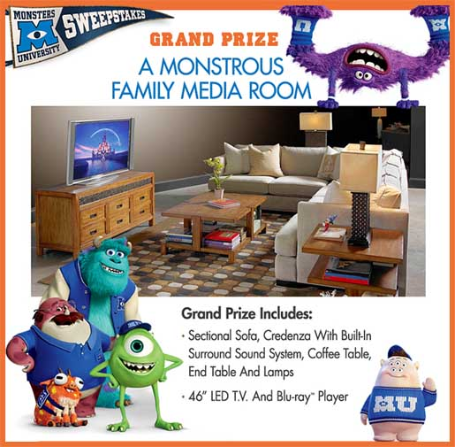 Disney sweepstakes 2013: Win a TV and Media Room - Sweeps Maniac