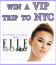 VIP Win a Trip to NYC Maybelline New York Elle Sweepstakes