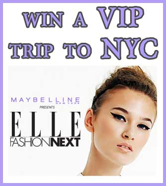 Win a free trip to NYC for ELLE's 2013 Runway show - Sweeps Maniac