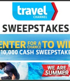 Win 10000 Cash Travel Channel Sweepstakes 2013