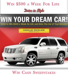 Win Cash for Life Win a Car Sweepstakes
