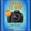 Win a Canon EOS Rebel T3 Free Digital Camera Giveaway