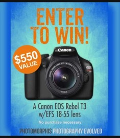 Win a Canon EOS Rebel T3 Free Digital Camera Giveaway