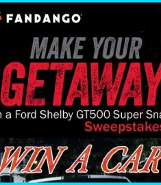Win a Car Ford Shelby GT500 Fandango Sweepstakes