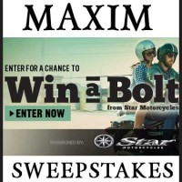 Win a Motorcycle Sweepstakes Maxim 2014 Bolt Star Motorcycles