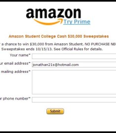Amazon Student College Cash Sweepstakes