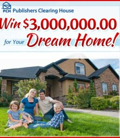 PCH Publishers Clearing House Win a Dream Home 3 Million dollar Sweepstakes