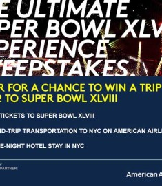 Superbowl XLVIII Sweepstakes Win aTrip