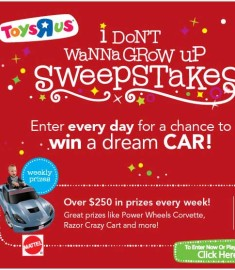 Toys R Us Win a Car Grow Up Sweepstakes