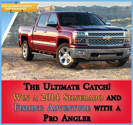 Win a Chevrolet Silverado 2014 and a fishing experience sweepstakes