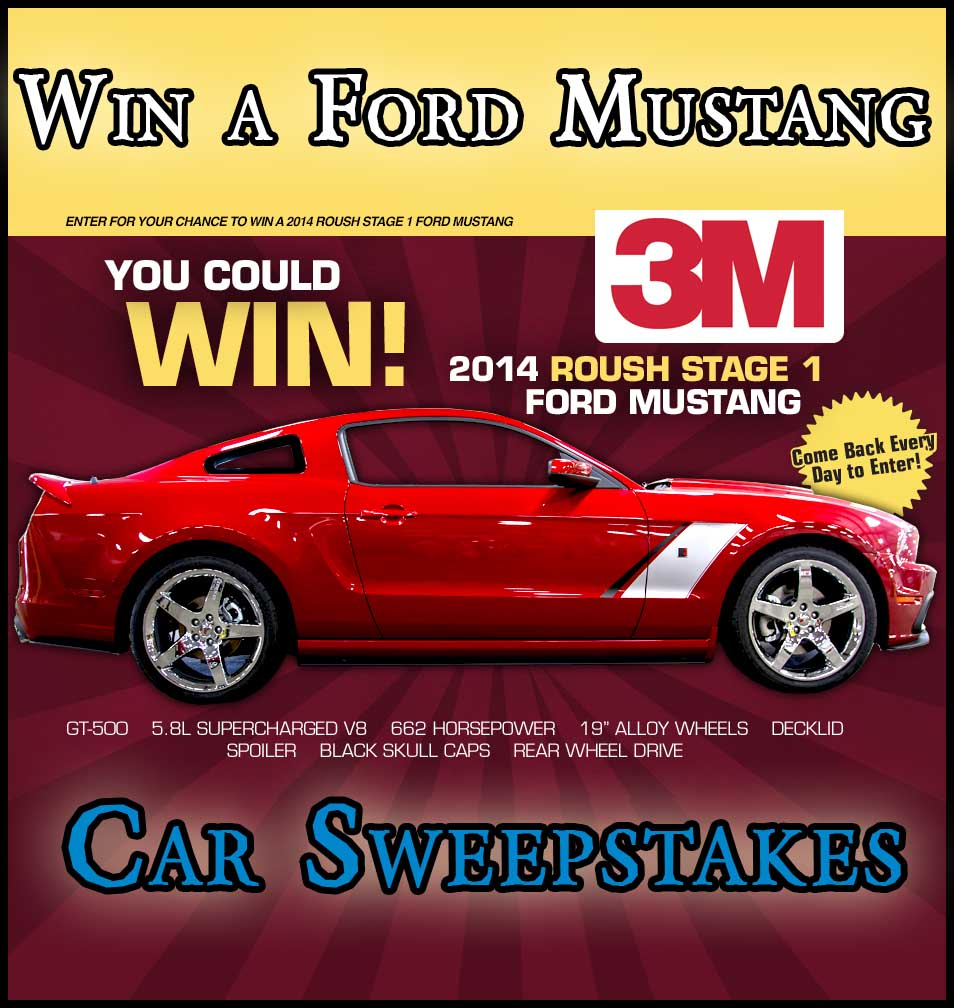 Win A Mustang Car Sweepstakes 2013 Sweeps Maniac