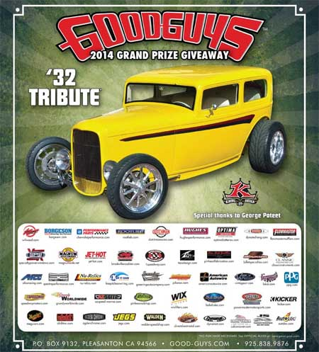 Win a 32 tribute car Good Guys car sweepstakes 2013