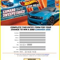 Win a Camaro 2SS Hot Wheels Car Sweepstakes