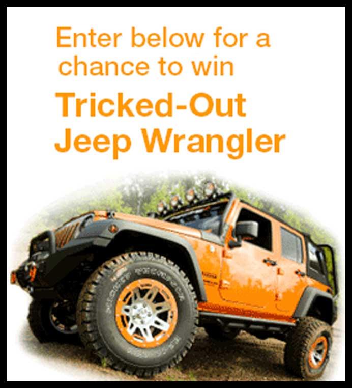 Win A Jeep Wrangler Sweepstakes 2013
