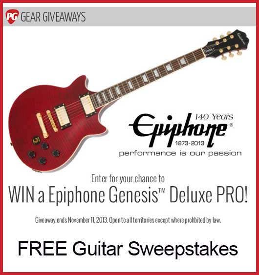Win a guitar Premier Guitar sweepstakes 2013 - Sweeps Maniac