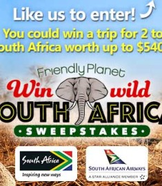 Win a Trip to South Africa Friendly Planet Travel Sweepstakes