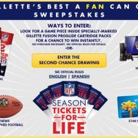 Free Super Bowl Tickets Trip Gillette Sweepstakes