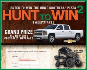 Hunt Brothers Pizza to Win Sweepstakes Win a Chevy Silverado and ATV