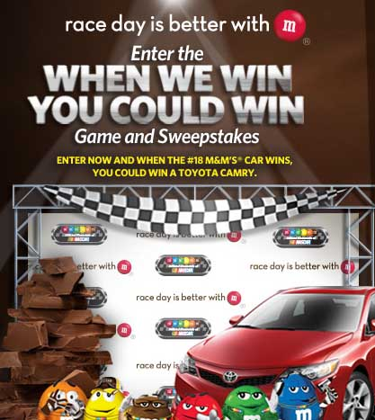 Win A Car Sweepstakes >> Win A Toyota Camry M M S Win A Car Sweepstakes 2013 Sweeps