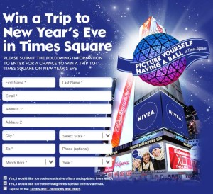 Enter to win a trip to New York for NYE Nivea vacation giveaway