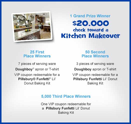 Win A Kitchen Makeover: Win 20 Grand Cash Pillsbury Pin It Sweepstakes 2013