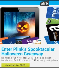 Plink Win an iPad 2 Halloween Giveaway