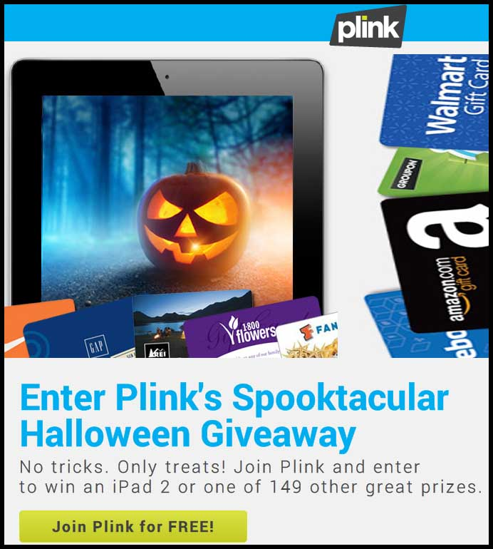 Win Ipad Plink Spooktacular Tech Sweepstakes Sweeps Maniac