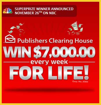 PCH set for life sweepstakes 7 grand a week for life - Sweeps Maniac