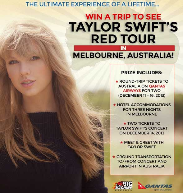 contest to meet taylor swift 2012 concert