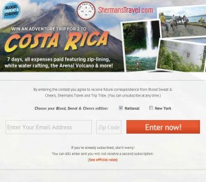 Win an Adventure Trip to Costa Rica