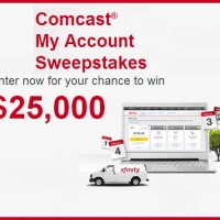 Comcast 25000 Thousand Dollar Free Cash Sweepstakes