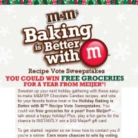 Free Groceries for a Year M&M Sweepstakes from Meijer