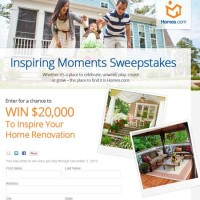 HGTV Sweepstakes 2013 Home Renovation 20 thousand Dollars Win Free Cash