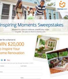 HGTV Sweepstakes 2013 Home Renovation 20 thousand Dollars Win Free Cash