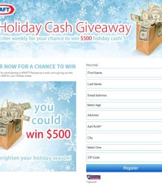 Kraft Holiday Cash Giveaway