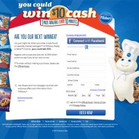 Pillsbury Free Money Cash every 10 minutes