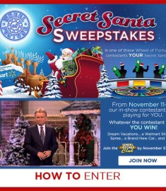 Secret Santa Sweepstakes Wheel of Fortune Sweeps