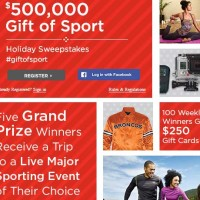 Sports Authority Holiday Sweepstakes Daily Prizes