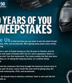 Suzuki Win an ATV Sweepstakes
