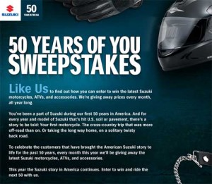 Suzuki Win an ATV Sweepstakes
