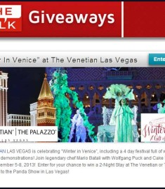 The Talk Giveaway Winter in Venice Las VEgas Trip Sweepstakes